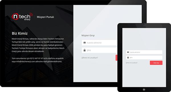 Ntech Enerji Müşteri Portalı | Web Tasarım